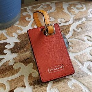 Coach Rust/Red/Orange Luggage Tag